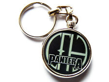 More details for pantera heavy metal band chrome keyring picture both sides