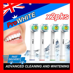 Oral B Pro White ProWhite Equivalent Electric Toothbrush Brush Heads x8pcs