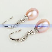 Crystal Drop Earring | Fsus Genuine Lavender Pearl & Swarovski