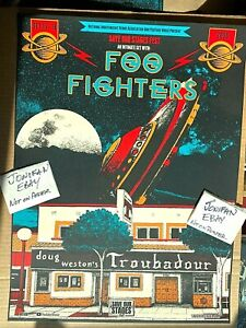 FOO FIGHTERS Save our Stages Troubadour Los Angeles CA 2020 Screen Print Poster