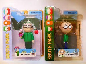 South Park Mezco Mr Garrison and Mr Mackey Figures BNIB