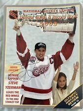 NHL Official Guide - Steve Yzerman Autograph