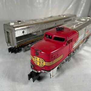 # 470 # 471 American Flyer Santa Fe Chrome Alco A-A Diesel Engines Not Tested