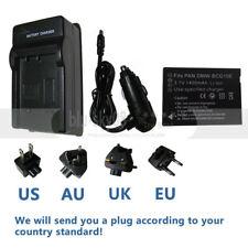 DMW-BCG10 BCG10E Battery +Charger for Panasonic Lumix DMC-ZS5 ZX1 TZ6 TZ7