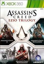 XBOX 360 Assassin's Creed Ezio Trilogy Assasin II Revelations Brotherhood 3-Disc