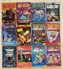 BONE CHILLERS DEADTIME ETC VTG HORROR CHILDRENS PAPERBACK 12 CHAPTER BOOK LOT