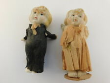 "ANTIQUE BISQUE WEDDING CAKE TOPPERS BRIDE GROOM 3"" TALL"