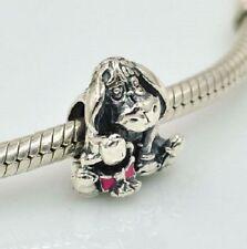 Authentic Genuine Pandora Sterling Silver Charms Disney Eeyore Dark Pink CZ S925