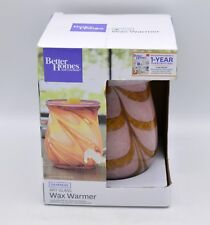Better Homes & Gardens Daybreak Art Glass Wax Warmer - New In Box