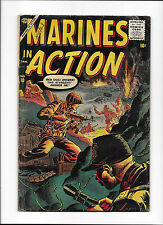 MARINES AT WAR #10  [1957 GD]  GREAT WAR COVER!  SILVER-AGE COMICBOOK