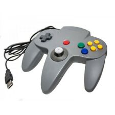 N64 USB Wired Game Controller Grey for PC and Mac