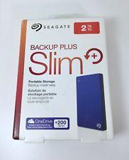 NEW 2TB Seagate Backup Plus Slim External Portable Drive
