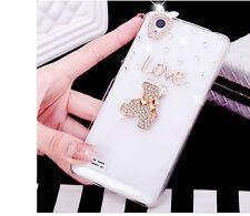Glitter Luxury Bling Diamonds Pearls love heart Hard Phone back Case Cover #A7