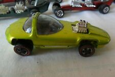 Hot Wheels Redlines Silhouette Lime Green Antifreeze Metalic Olive 1967