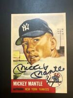 ~New 1953 Topps Reprint #82 Mickey Mantle New York Yankees Autograph AUTO MINT