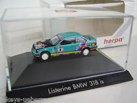 BMW 3er 318is E36 Coupe Nr.8 Listerine Harvey GB PC OVP 1:87 H0 035750 Herpa