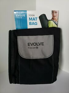 Evolve by Gaiam Yoga Mat Bag Black & Grey with Shoulder Strap Storage *NEW*