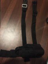 Cordura Nero Stile Militare Rilascio Rapido Tattico gamba sinistra FONDINA