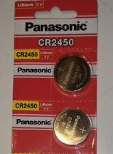 2 NEW PANASONIC CR2450 3V BATTERIES ECR2450 CR 2450 EXP 2027 Original Packaging