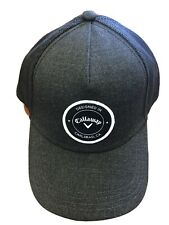 New Callaway Golf Black With Black Patch Adjustable Trucker Hat
