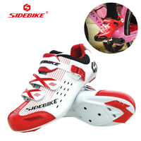 SIDEBIKE Men's Road Bike Indoor Fitness Cycling Shoes For Shimano SPD SL Look