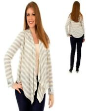 B13 Womens Cream Grey Plus Size 22/24 Long Sleeves Knit Work Outerwear Cardigan