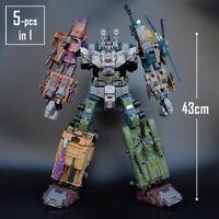 "JINBAO Bruticus 5in1 Decepticons Transformers 17"" Oversize Action Figure NEW Toy"