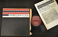 "10"" FOLK LP Richard Morris The Oratory Of The American Revolution Folkways 2189"