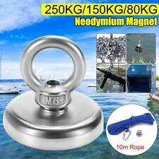 Powerful Round Neodymium Magnet 250KG Hook Salvage Magnet Sea Fishing Equipments