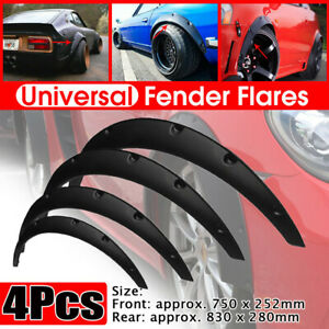 4x Car SUV Flexible Fender Flares Lips Durable Protector Trim Universal Kit Auto