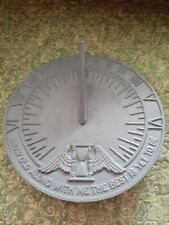 """Vtg. Griswold #357 Cast Iron Sun Dial """"Grow Old Along With Me"""""""