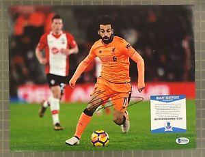 Mohamed Salah Signed 11x14 Photo Soccer Autographed AUTO BAS Beckett COA