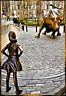 FEARLESS GIRL AND CHARGING BULL - REFRIGERATOR MAGNET