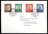 Bund Satzbrief MiNr. 173-76 Mischfrankatur (K352