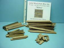 "Miniature Plank Flooring Kit 1/2"" (1:24) (36 Sq In) Walnut Wood"