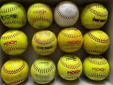 1 Dozen (12) Used Softballs - Mixed Brands - 12�
