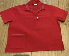 Vintage French Red Tunic Top - Age 4