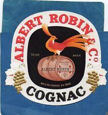COGNAC VIEILLE LITHOGRAPHIE VERNIE COGNAC ALBERT ROBIN & CO  RARE  §27/04/17§