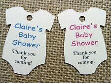 Personalised Baby Shower Christening Birthday Thank You Tags Textured Ivory Card