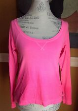 HOLLISTER WOMENS LONG SLEEVE CASUA SHIRT V NECK PINK COLOR XS COTTON