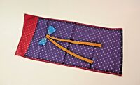 Vintage Silk Scarf Bow Multi Color 10 by 46 inches