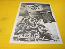 URIAH HEEP - CONQUEST!!!!!!!!!!!!!!!FRENCH PRESS ADVERT