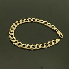18ct 750 Yellow Gold Curb Patterned Bracelet
