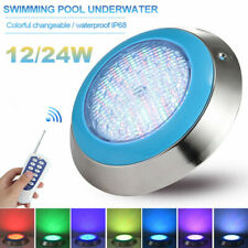 Underwater RGB Swimming Pool Pond Light 24W LED Bright Spa Lamp Wall Mount Remot