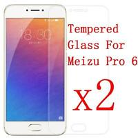 2PCS 9H Premium Real Tempered Glass Screen Protector Film Cover For Meizu Pro 6#