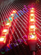 2 BANDE A SOUPLE A 6 LED ROUGE 10CM SMD5050 12 VOLTS WATERPROOF