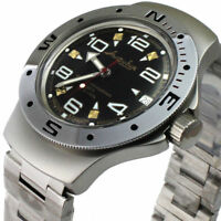 Vostok Amphibian Watch 060335 Military Automatic Russian Scuba Diver New