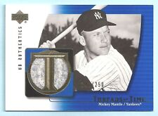 Mickey Mantle 2003UD Auténticos roscas OF TIME GAME Worn Camiseta / 250