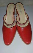 KEYS women's red leather heel shoes sz.37