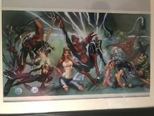Stan Lee Signed Spiderman Litho Also Signed By J Scott Campbell